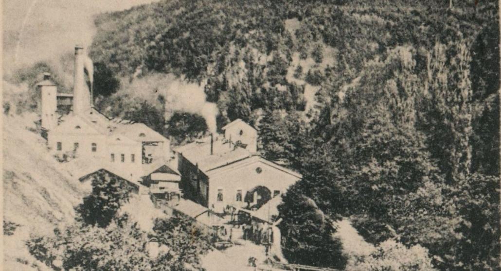 Graf Salmsche Eisengießerei in Blansko, heutiges Tschechien. Korrespondenzkarte 1903