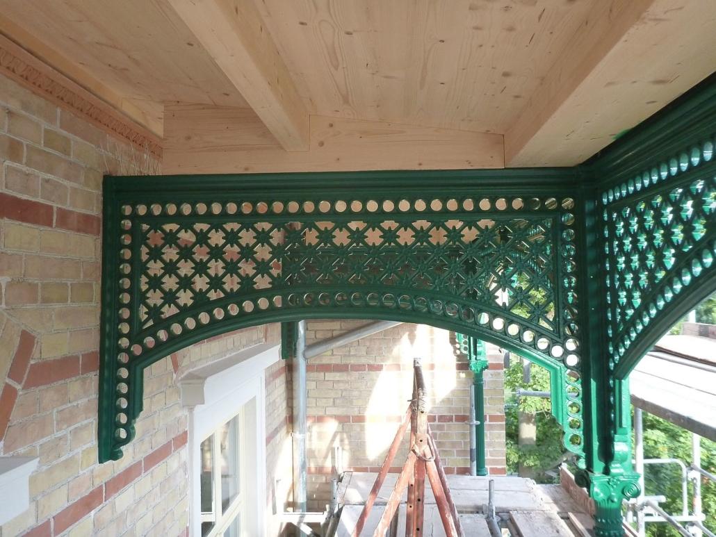 Detailansicht der Dachkonstruktion