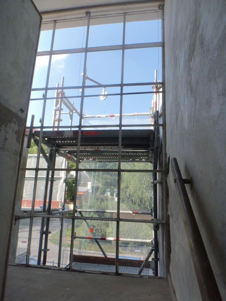 Blick auf die Glasfassade