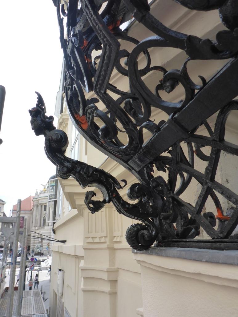 Blick gegen die Hofburg.