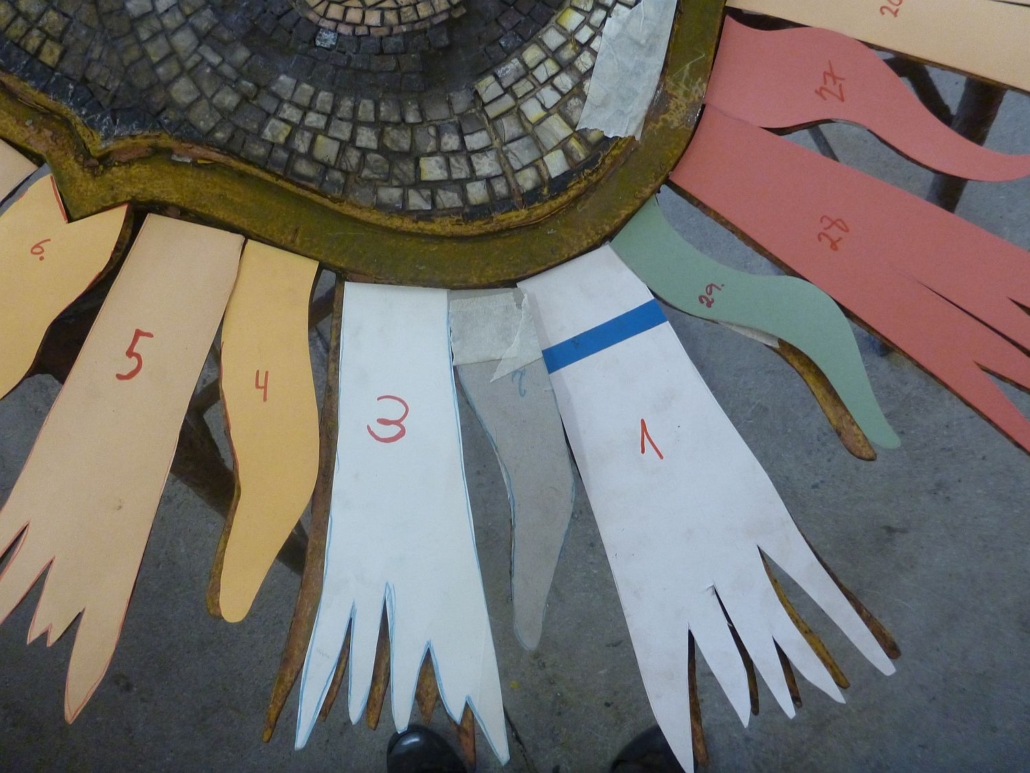 Passgenaue, individuelle Schablonen wurden angefertigt.